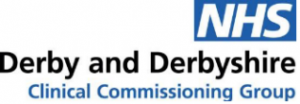 Logo for the NHS Derby and Derbyshire CCG